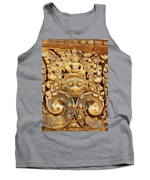 Banteay Srei Carving 01 Tank Top