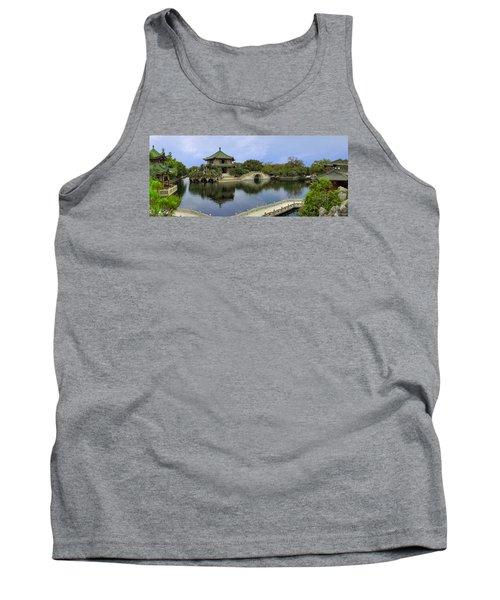 Tank Top featuring the photograph Baomo Garden Temple by Nicola Nobile