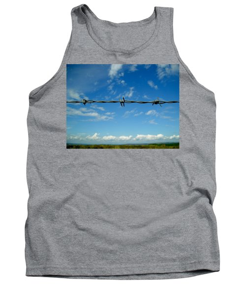 Tank Top featuring the photograph Barbed Sky by Nina Ficur Feenan