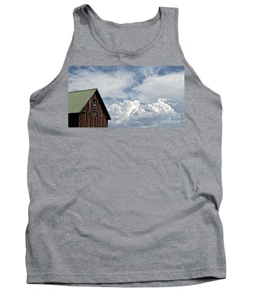 Tank Top featuring the photograph Barn And Clouds by Joseph J Stevens