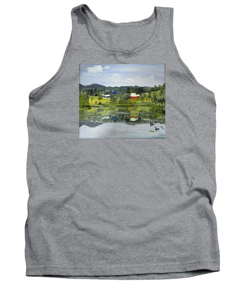 Barn At Little Elk Lake Tank Top by Christine Lathrop