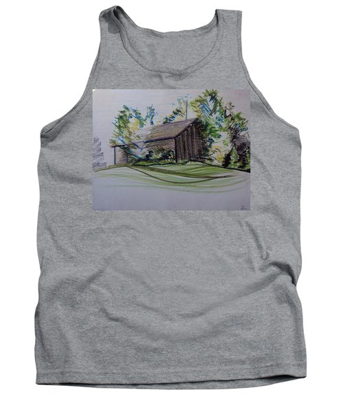 Old Barn At Wason Pond Tank Top by Sean Connolly