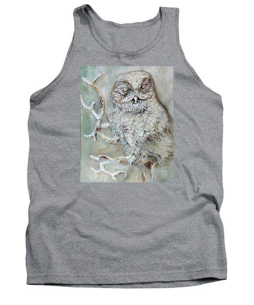 Barn Owl Tank Top by Enzie Shahmiri