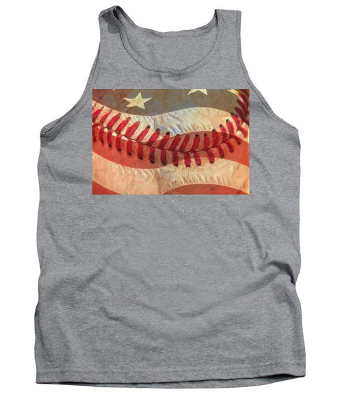 Baseball Is Sewn Into The Fabric Tank Top