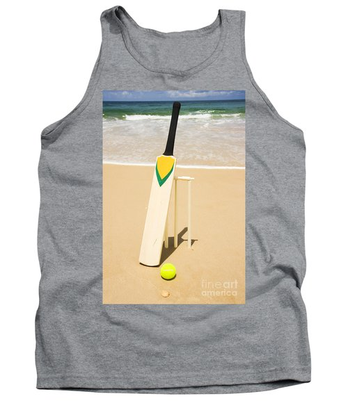 Bat Ball And Stumps Tank Top by Jorgo Photography - Wall Art Gallery