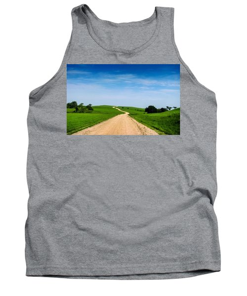 Battle Creek Road From The Saddle Tank Top