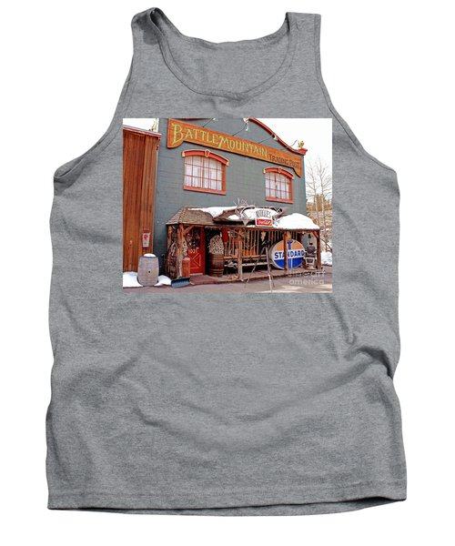 Battle Mountain Trading Post Tank Top by Fiona Kennard