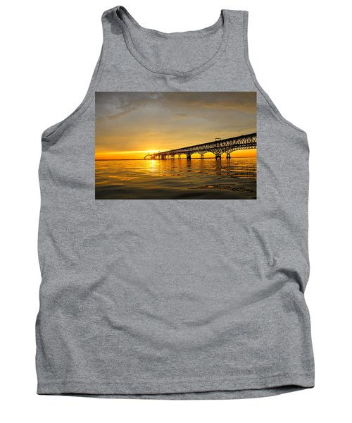 Bay Bridge Sunset Glow Tank Top