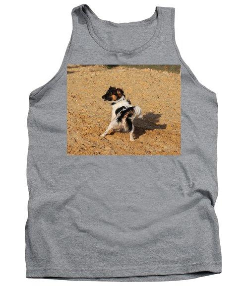 Beach Dog Pose Tank Top