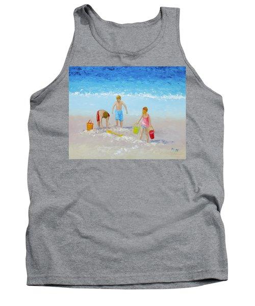 Beach Painting - Sandcastles Tank Top