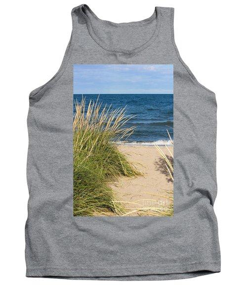 Beach Path Tank Top by Barbara McMahon