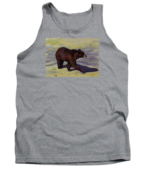 Tank Top featuring the painting Bear Shadows by Pattie Wall