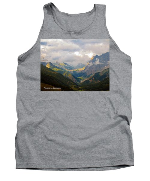 Beautiful Green Valley Tank Top