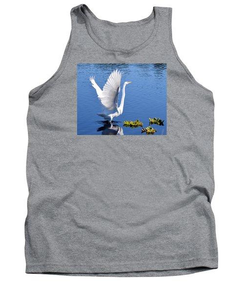 Beautiful Grest White Egret Tank Top