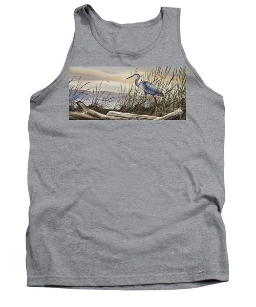 Beauty Along The Shore Tank Top by James Williamson