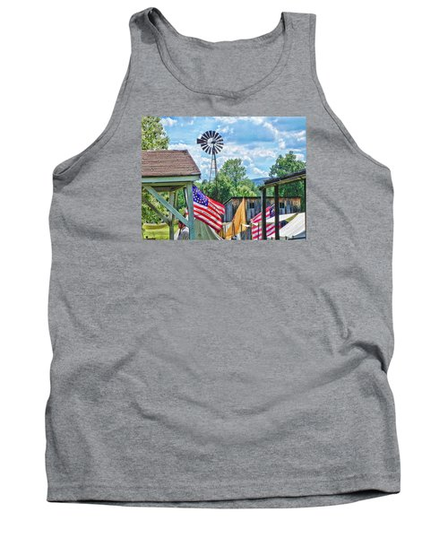 Tank Top featuring the photograph Bedford Village Pennsylvania by Kathy Churchman