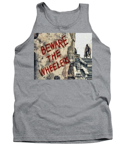 Beware The Wheelers Tank Top by Joe Misrasi