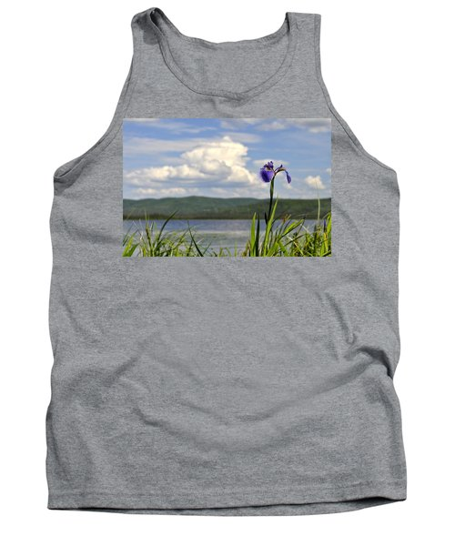 Tank Top featuring the photograph Birch Lake Iris by Cathy Mahnke