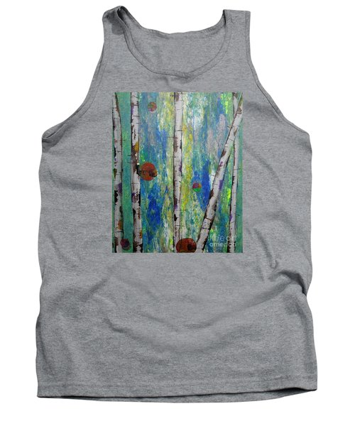 Birch - Lt. Green 4 Tank Top by Jacqueline Athmann
