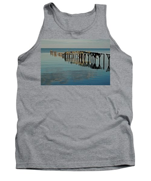 Birds On Old Dock On The Bay Tank Top