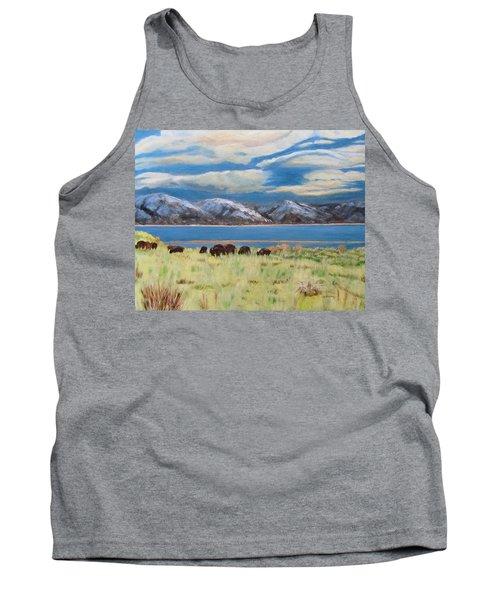 Bison On Antelope Island Tank Top
