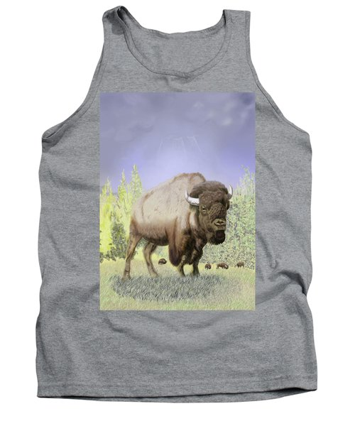 Bison On The Range Tank Top