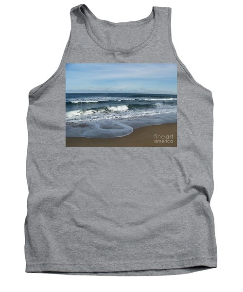 Tank Top featuring the photograph Winter Beach  by Eunice Miller