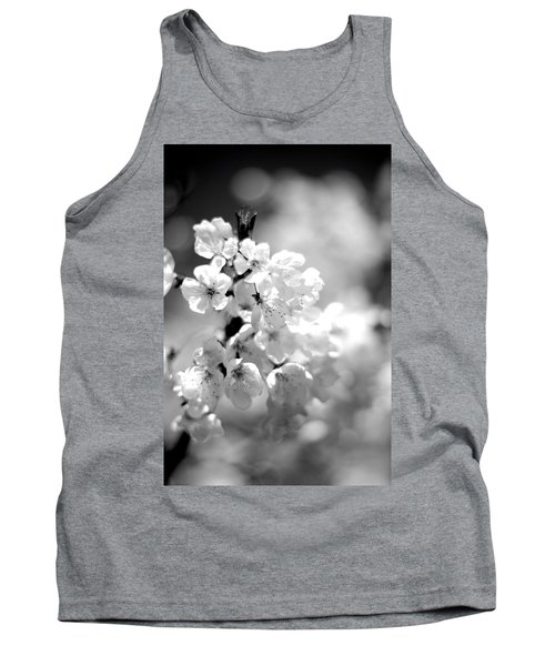 Black And White Blossoms Tank Top