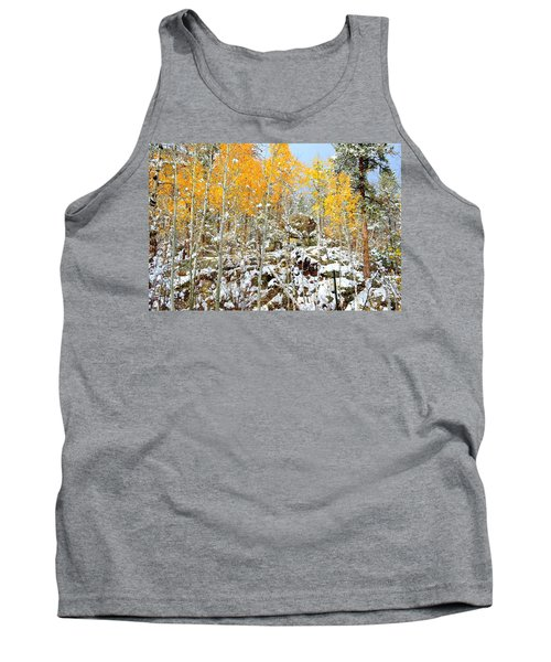 Tank Top featuring the photograph Black Hills Boulders by Clarice  Lakota
