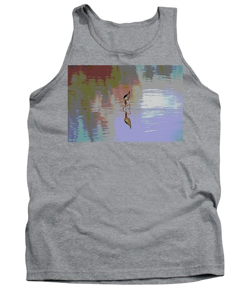 Tank Top featuring the photograph Black Neck Stilt Out In The Pond by Tom Janca