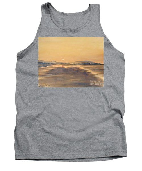 Tank Top featuring the painting Blue Anchor Sunset by Martin Howard