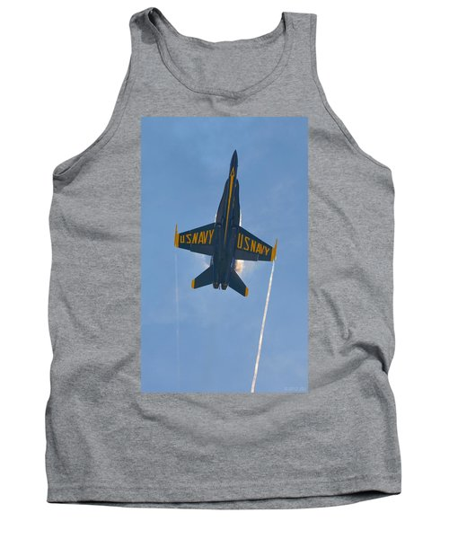 Tank Top featuring the photograph Blue Angels Ghost Appears Over Pensacola Beach by Jeff at JSJ Photography