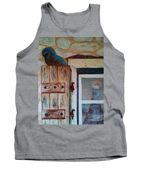 Tank Top featuring the painting Blue Bird by Jasna Gopic