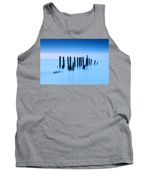 Blue Heron In Blue Tank Top