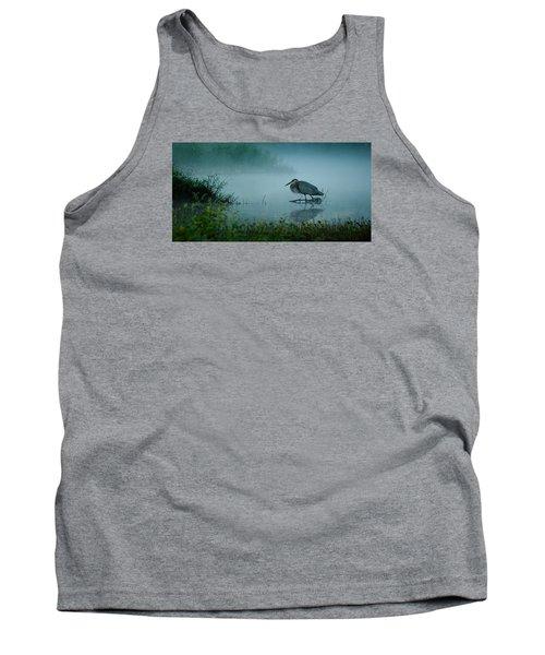 Blue Heron Morning Tank Top
