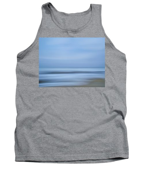 Blue Hour Beach Abstract Tank Top by Linda Villers
