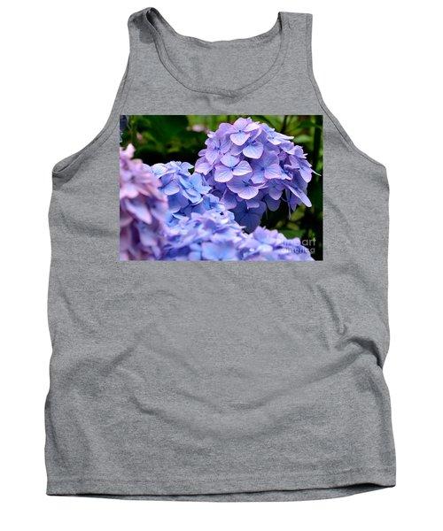 Blue Hydrangea Tank Top