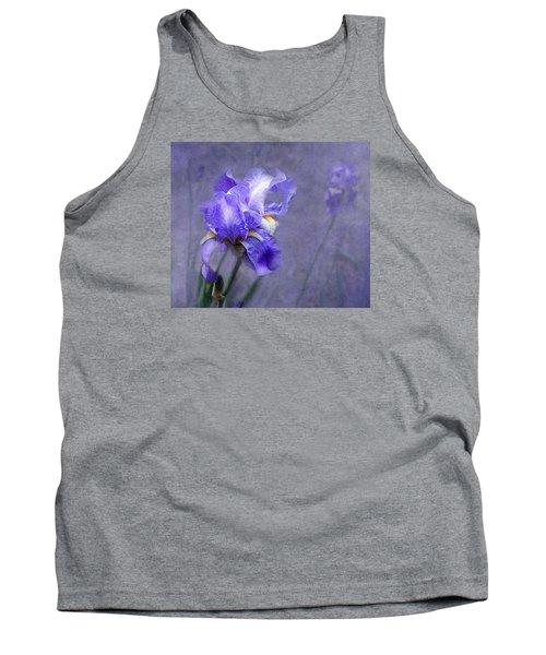 Blue Iris Tank Top by Lena Auxier