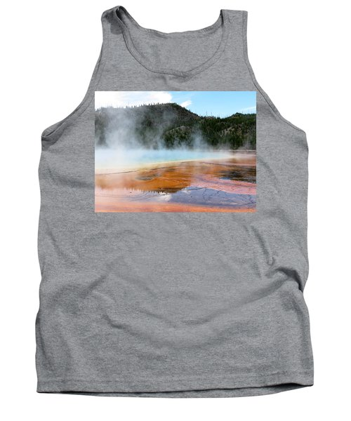 Tank Top featuring the photograph Blue Steam by Laurel Powell