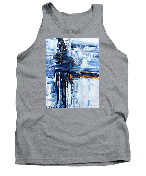 Tank Top featuring the painting Blue Thunder by Rebecca Davis