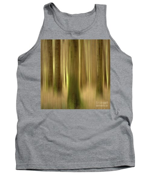Blurred Trunks In A Forest Tank Top