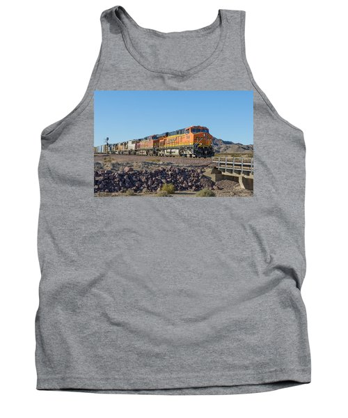 Tank Top featuring the photograph Bnsf 7649 by Jim Thompson