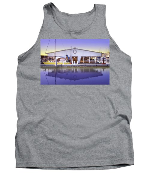 Tank Top featuring the photograph Boat House by Sonya Lang