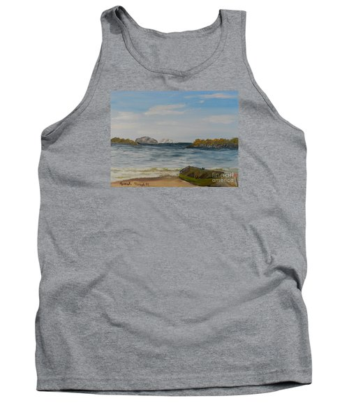 Boat On The Beach Tank Top