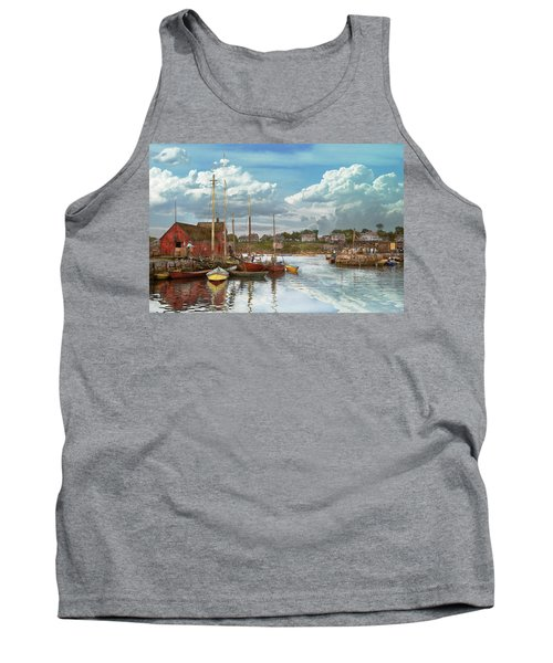 Boat - Rockport Mass - Motif Number One - 1906 Tank Top