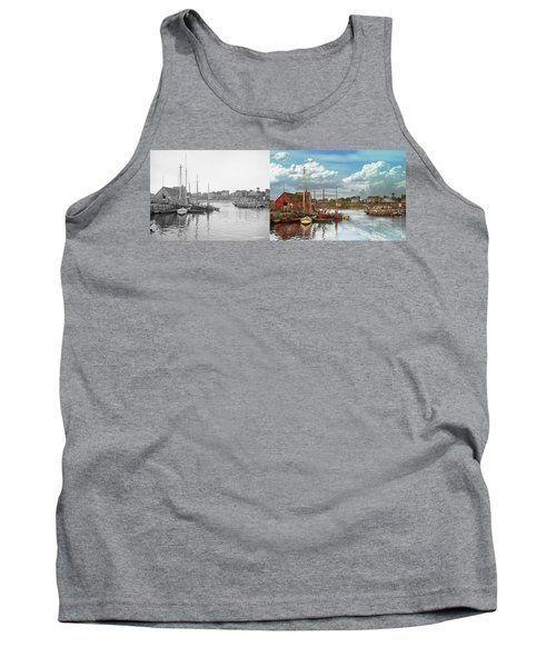 Boat - Rockport Mass - Motif Number One - 1906 - Side By Side Tank Top