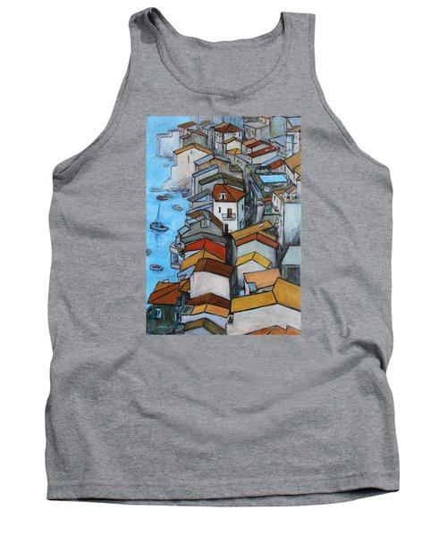 Boats In Front Of The Buildings Iv Tank Top by Xueling Zou