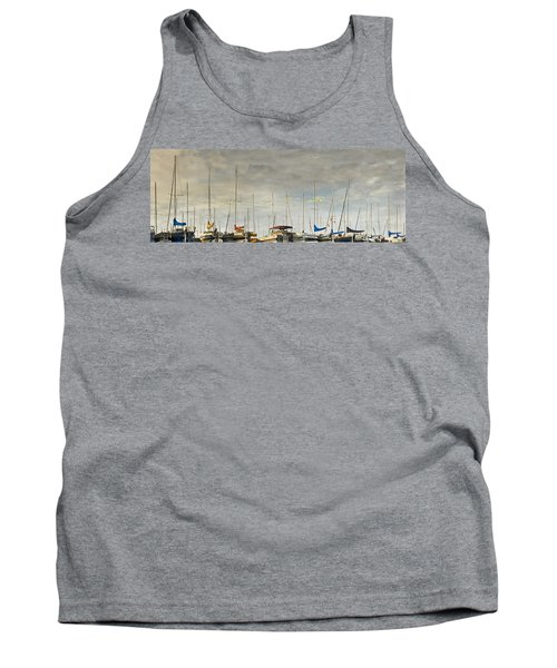 Tank Top featuring the photograph Boats In Harbor Reflection by Peter v Quenter