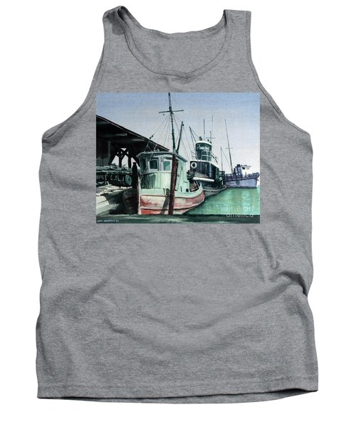 Tank Top featuring the painting Boats by Joey Agbayani