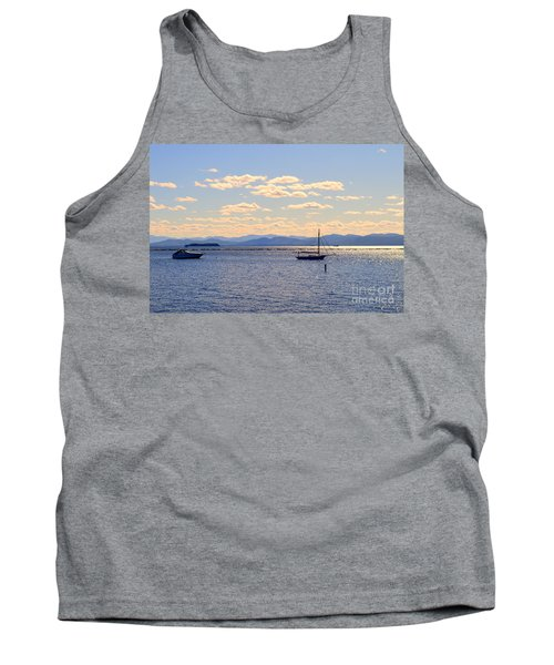 Boats On Lake Champlain Vermont Tank Top by Catherine Sherman
